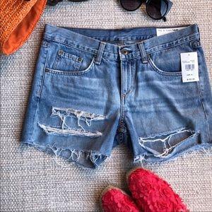 New rag & bone distressed jean shorts in rye